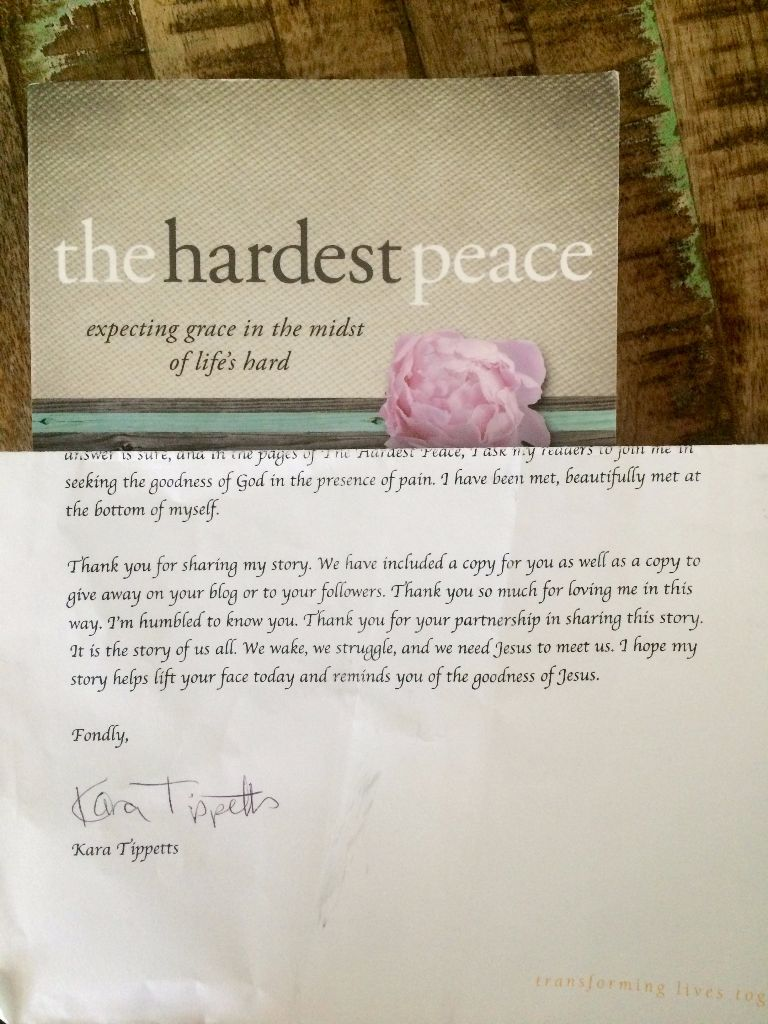 The Hardest Peace (And A Giveaway)